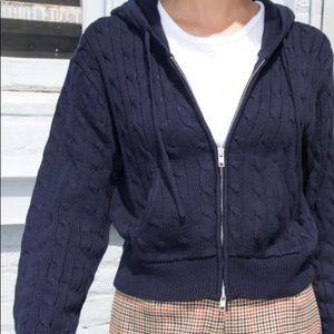 Crystal knit hoodie
